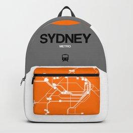 Sydney Orange Subway Map Backpack