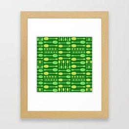 Unique Artsy Spoons! (Bright Green) Framed Art Print
