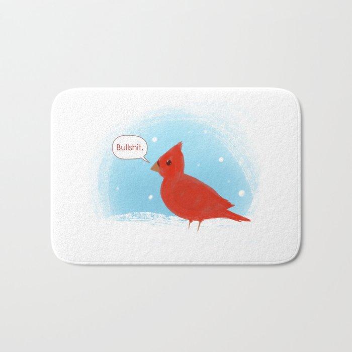 Winter Cardinal Bath Mat