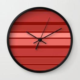 Terracotta striped background Wall Clock