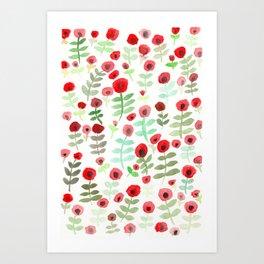 Poppy Blossom illustration Art Print