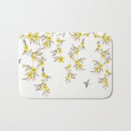 Birds and Cherry blossoms II Bath Mat