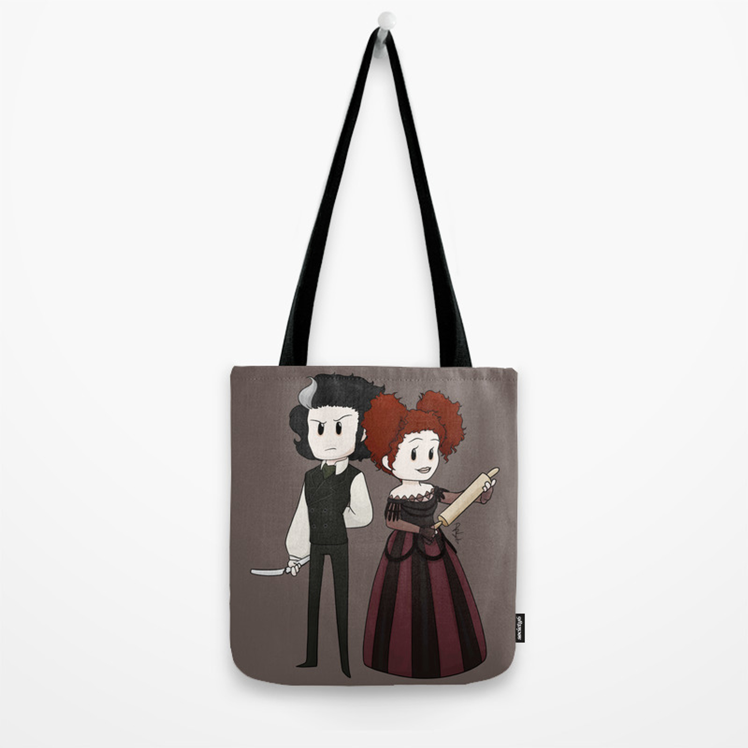 2077d73ee4f8c Sweeney Todd & Mrs. Lovett Tote Bag by artisticnutcase | Society6