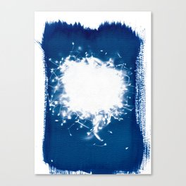 Meadowflowers - Cyanotype Canvas Print