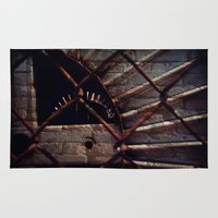 industrial Area & Throw Rugs featuring Industrial by KunstFabrik_StaticMovement Manu Jobst