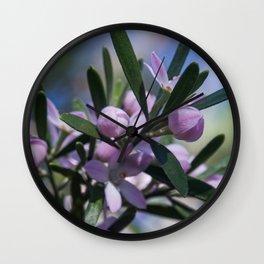 Wax flowers Wall Clock