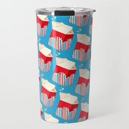 Milk Pattern - Blue Travel Mug