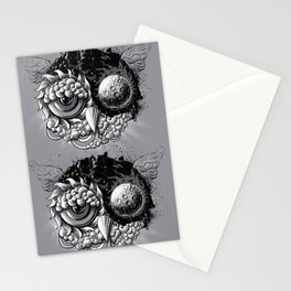 Owl Day & Owl Night Stationery Cards