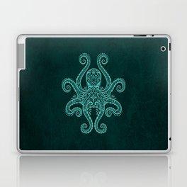 Intricate Teal Blue Octopus Laptop & iPad Skin