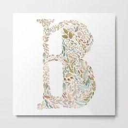 B of Leaves Metal Print