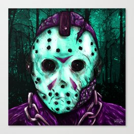 Jason Voorhees - Friday the 13th (8-Bit) Canvas Print