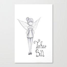 TinkerBell B&W Canvas Print