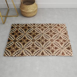 Exquisite Vintage Paper Pattern in Coffee Bean Hues Rug