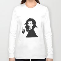 conan Long Sleeve T-shirts featuring Sir Arthur Conan Doyle by VivienKunde