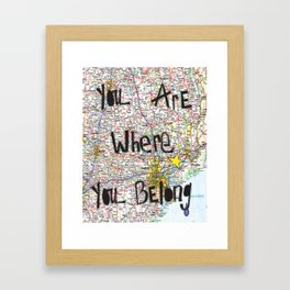 Where You Belong-Houston Framed Art Print