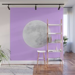 WHITE MOON + LAVENDER SKY Wall Mural