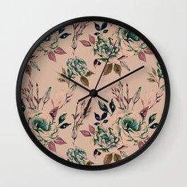 Lisianthus Pattern - Vintage Wall Clock
