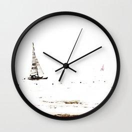 Haltone Black, Brown and White Wall Clock