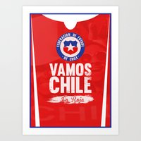 chile Art Prints featuring Chile by liamhohoho