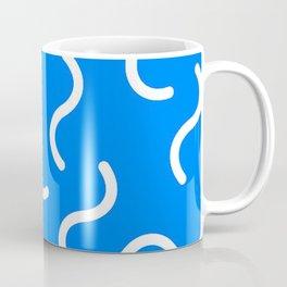 DAVID HOCKNEY STYLE 80s SQUIGGLE PATTERN Coffee Mug