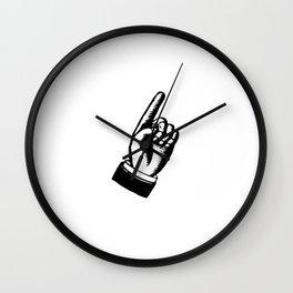 Finger Point Wall Clock