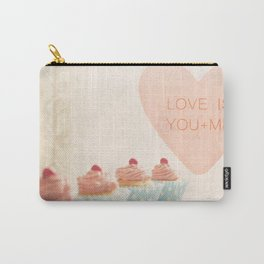 Love is You + Me Carry-All Pouch