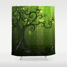 LEAVE - Summer Green Shower Curtain