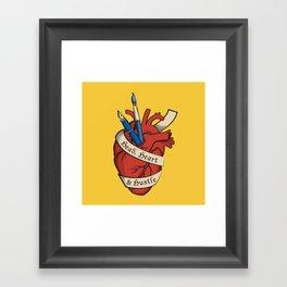 Head, heart & hustle Framed Art Print