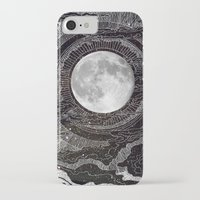 bunny iPhone & iPod Cases featuring Moon Glow by brenda erickson