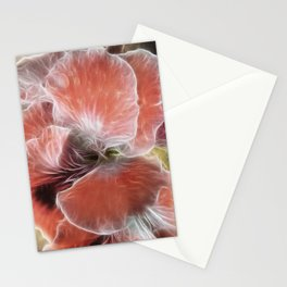 Royal Pelargonium with Water Droplets Stationery Cards