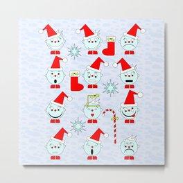 Funny Christmas faces Metal Print