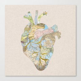 A Traveler's Heart (N.T) Canvas Print