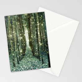 Magical Forest Old Money Green Stationery Cards