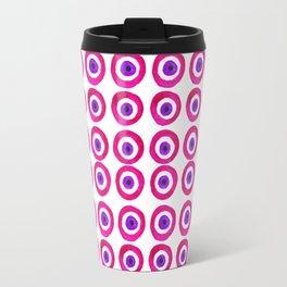 Evil Eye Amulet Talisman in Pink Travel Mug