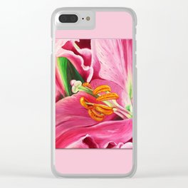 Stargazer Lily Clear iPhone Case