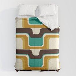 Mid-Century Modern Meets 1970s Teal Comforters