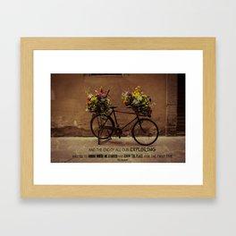 Bicicletta Framed Art Print