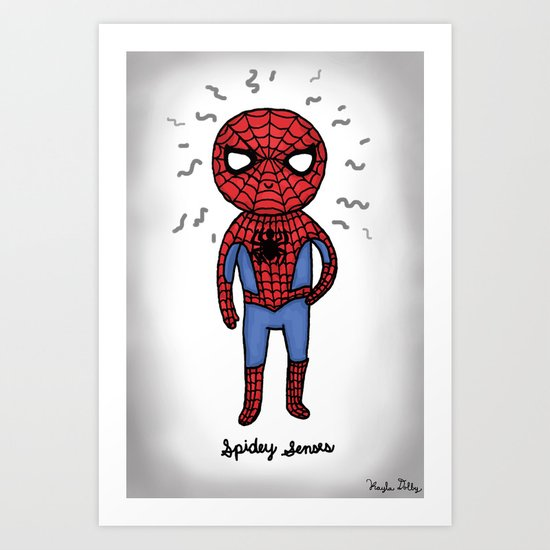 Super Cute Heroes: Spidey Senses Art Print