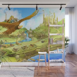 Flying On Polly Over an Enchanted Land Wall Mural