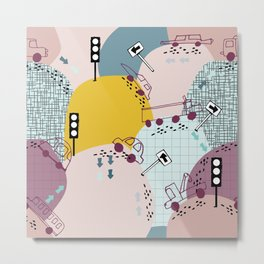 Four wheels Pink #homedecor Metal Print