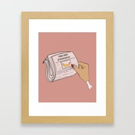 This #$%@ is Bananas Framed Art Print
