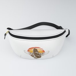 Vintage Retro Wings Windsurfing Gift Sunset Fanny Pack
