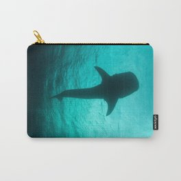 Whale shark silhouette Carry-All Pouch
