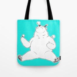 Juggling Bear Tote Bag