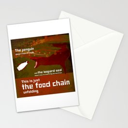 food chain 2 Stationery Cards