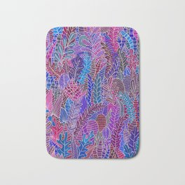 Botanical in purple Bath Mat