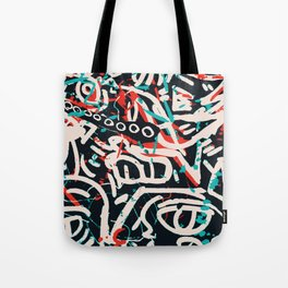 Street Art Pattern Graffiti Post Tote Bag