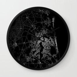 Jacksonville map Wall Clock