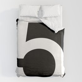 No. 5 — Black Duvet Cover