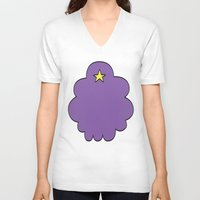 lumpy space princess V-neck T-shirts featuring Lumpy Space Princess by SBTee's